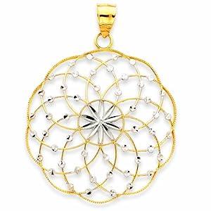 14K Rhodium D/C Sphere Pendant