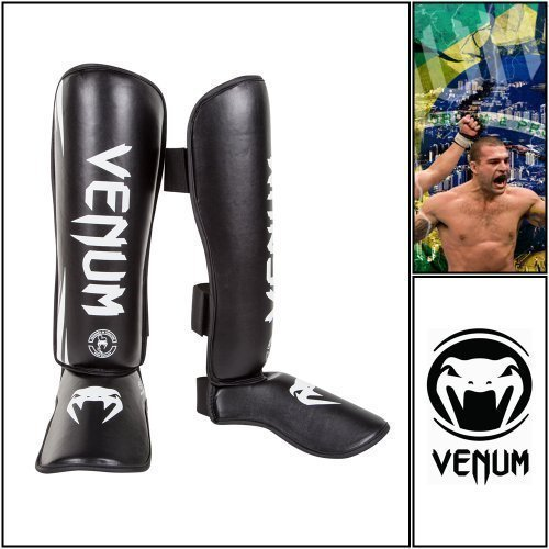 """Venum """"Challenger"""" Standup Schienbeinschützer, Spannschutz, Schienbeinschoner, Schienbeinschutz, MMA Schienbeinschützer,Muay Thai Schienschoner (XL)"""
