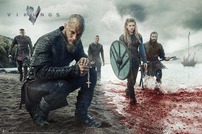 Vikings Poster Blood Land Cape - Poster grande dimensioni (91,5 cm x 61 cm)