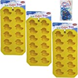 TopValueSupplies 3-Piece Rubber Ducky Mold Tray Value Set.