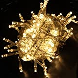 WOOTOP-10M 100 LED Warm White Fairy Light String Holiday Lights for Christmas Party LED-XS-Warm White