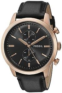 Fossil Men's FS5097 Townsman Analog Display Analog Quartz Black Watch