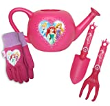Midwest Gloves and Gear PR14P18-EA-AZ-6 Disney Princess Gloves/Trowel/Cultivator/Bucket Combo Pack for Gardening