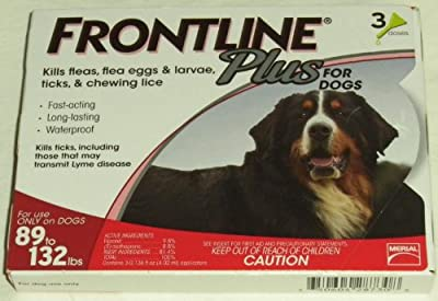 Frontline Plus for Dogs (89 to 132lbs ) 3 Pack