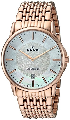 Edox-Mens-56001-37RM-NAIR-Les-Bemonts-Analog-Display-Swiss-Quartz-Rose-Gold-Watch