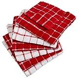 DII 100% Cotton, Machine Washable, Basic Everyday Kitchen Dish Cloth, Windowpane Design, 12 x 12