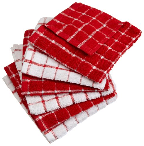 Excello Windowpane Combo Dish Cloth White and