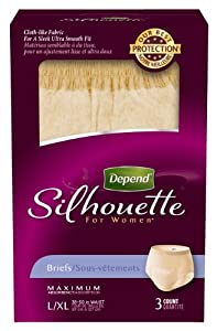 Depend Silhouette Women's Maximum Absorbency Underwear, Large/Extra Large, 3 Count by Depend