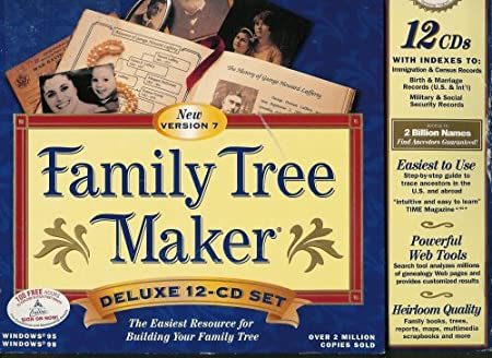 Broderbund Family Tree Maker Version 7 12-CD Set