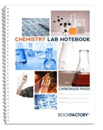 BookFactory® Carbonless Chemistry Lab Notebook - 100 Sets of Pages (8.5\