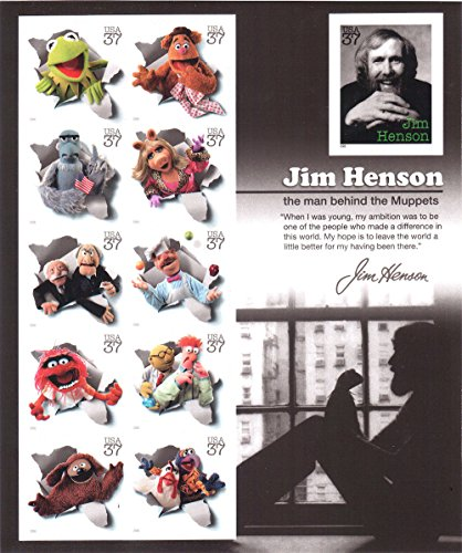 Jim Henson and the Muppets, Full Sheet of 11 x 37-Cent Postage Stamps, USA 2005, Scott 3944