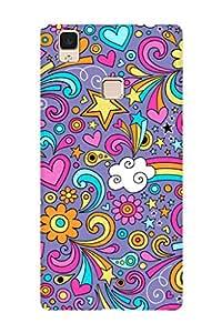 ZAPCASE PRINTED BACK COVER FOR VIVO V3 Multicolor