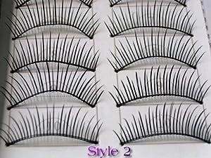 20 Pairs of Natural & Regular Long False Eyelashes