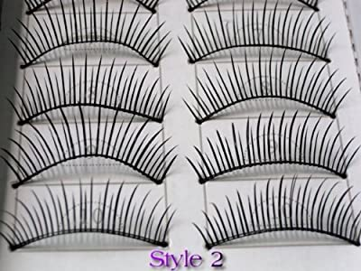20 Pairs Of Natural Regular Long False Eyelashes by La Demoiselle