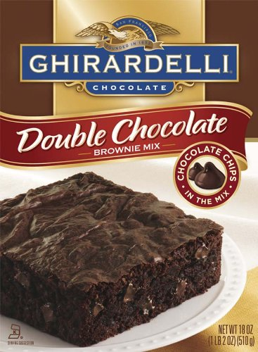 Ghirardelli Chocolate Brownie Mix, Double Chocolate, 18 Ounce Boxes (Pack of 12)