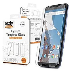 Orzly® - Premium Tempered Glass 0.24mm Protective Screen Protector For MOTOROLA NEXUS 6 / Google Nexus 6 SmartPhone 2014