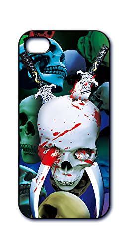 Dimension 9 Slim 3D Lenticular Cell Phone Case for Apple iPhone 5 or iPhone 5s - Skull with Swords