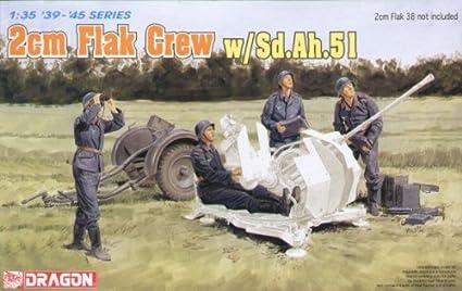 Dragon 6368 2cm Flak Crew w/SD.AH.51 1:35 Plastic Kit