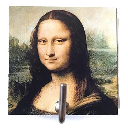 Agility Bathroom Wall Hanger Hat Bag Key Adhesive Wood Hook Vintage Mona Lisa's Photo (Kindle Quilted Cover Pattern compare prices)