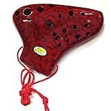 TNG Pla03-AC-Red プラスチック トリプル オカリナ AC レッド