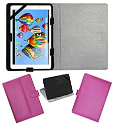 ACM LEATHER FLIP FLAP TABLET HOLDER CARRY CASE STAND COVER FOR DIGIFLIP PRO XT911 PINK
