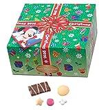 11/1~ ディズニー クリスマス 2016 ラッピング風正方形箱 お菓子 詰め合わせ ツリーBOX ミッキー (ディズニーリゾート限定)