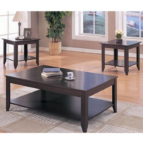 Fantastic 3Pc Modern Coffee Table Set With Coffee Table And Two End Ocoug Best Dining Table And Chair Ideas Images Ocougorg