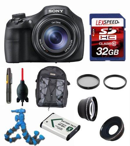 Sony Dsc Hx400 Dsc-Hx400/B Dschx400V Dsc-Hx400V + Wide Angle + Telephoto Lens + Case + Battery + Flexpod + Filters + 32Gb (10) Deluxe Bundle