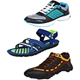 Super Men Combo Pack Of 3 Sports Shoes With Sandals