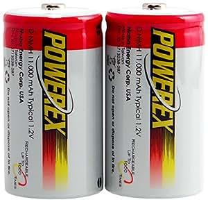 Powerex MH-2D110 Powerex D 11000mAh 2-Pack Rechargeable Batteries