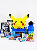 Pokemon Game Themed Candy and Toy Easter Bunny Gift Basket with Pikachu Plush