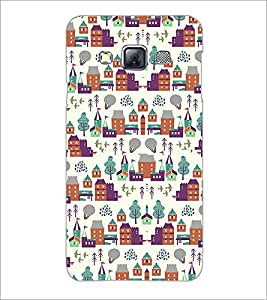 PrintDhaba Pattern D-2182 Back Case Cover for SAMSUNG GALAXY A3 (Multi-Coloured)