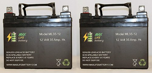12V 35Ah U1 Invacare Pronto M50, M51, M61, M71, Booster Battery - 2 Pack