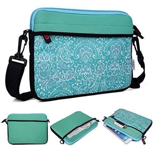 Kroo Tablet/Laptop Sleeve Custodia con tracolla per ALCATEL Onetouch Hero 8 verde Teal