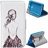 Voguecase® Schutzhülle Tasche Leder Brieftasche Hülle