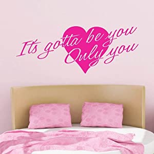"It's Gotta Be You ~ One Direction: Wall Decal, 10"" X 26"" by Best Priced Decals"