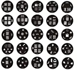 MASH Set of 25 Nail Art Nailart Polish Stamp Stamping Manicure Image Plates 51-75 Accessories Set