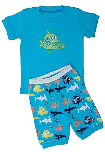 """Elowel Shorts """"Whale Fish"""" 2 Piece Pajama Set 100% Cotton - 12-18 Months front-1063708"""