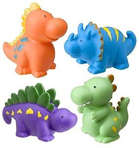 Carletto 52607006 - Muñecos de dinosaurios para la bañera
