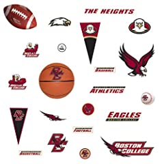 Buy NCAA Boston College Eagles - 27 Boys College Sports Wall Stickers Decals by RoomMates