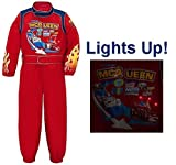 Disney Store Cars 2 Light Up Lightning McQueen Halloween Costume Racing Suit for Boys Size Large 10