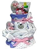 人気ベビー服carter's4点ギフト(くま)おむつケーキ 出産祝いやお誕生日に♪