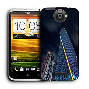 Snoogg Dark Side Of Building Printed Protective Phone Back Case Cover For HTC One X