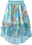 My Michelle Girls 7-16 Printed 2 Tiered Hi-Low Skirt