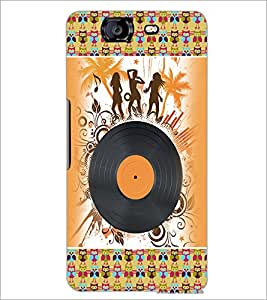 PrintDhaba Music D-4188 Back Case Cover for MICROMAX A350 CANVAS KNIGHT (Multi-Coloured)