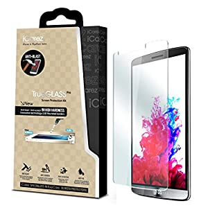 iCarez® for LG G3 [Tempered Glass] Highest Quality Premium Anti-Scratch Bubble-free Reduce Fingerprint No Rainbow Washable Screen Protector Easy Install Product