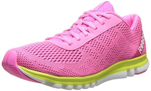 Reebok Women's Sublite Duo Smooth Running Shoe,Pink/Electro Pink/High Vis Green,8 M US