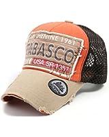 ililily Distressed Vintage Pre-curved Mesh Baseball Cap with Adjustable Strap Snapback Trucker Hat - 435