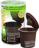 Ekobrew Refillable K-cup for Keurig Brewers, 1-Count Color: Brown Size: 1-Count, Model: 852748003061