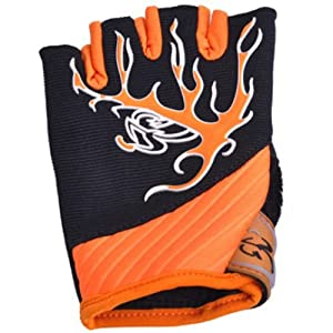 Winter Mens Outdoor Cycling Gloves Short Finger half-finger yellow comfortable gloves by MAYSU